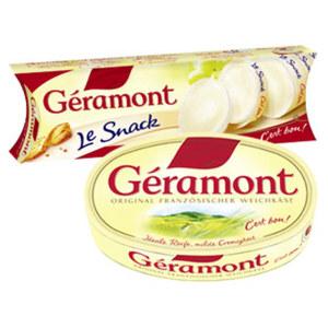 Géramont Französischer Weichkäse  60 % Fett i. Tr. versch. Sorten,   jede 200/150-g-Packung und weitere Sorten