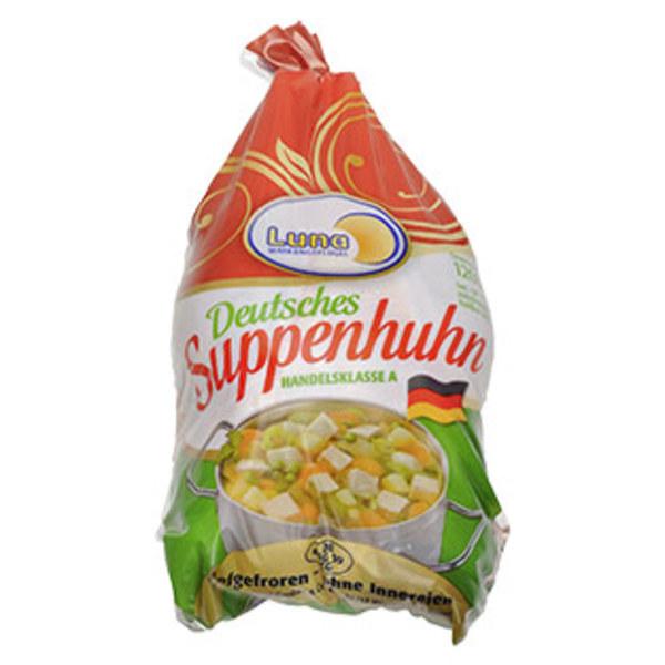 Deutsches Suppenhuhn HKl. A,  ohne Innereien, gefroren, jedes 1200-g-Stück