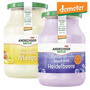 Andechser Natur Demeter Fruchtjogurt versch. Sorten, jedes 500-g-Glas