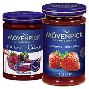 Mövenpick Fruchtaufstrich Gourmet-Frühstück oder Gourmet-Creme versch. Sorten, jedes 250/200-g-Glas