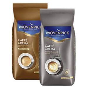 Mövenpick Caffé Crema versch. Sorten oder Espresso ganze Bohne jede 1000-g-Packung