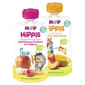 """Hipp """"Hippis"""" Fruchtquetschen versch. Sorten, jeder 100-g-Beutel"""