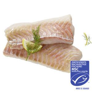 Seelachs Loins praktisch grätenfrei aus MSC-zertifiziertem Wildfang, Nordostatlantik,  je 100 g