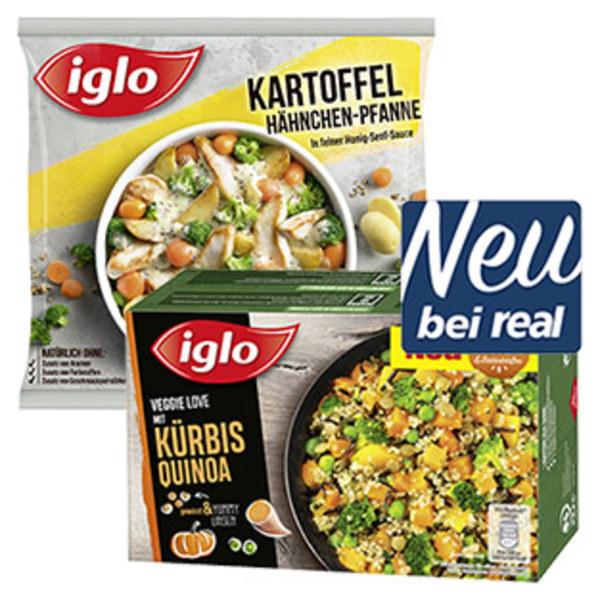 Iglo Fertiggerichte oder Veggie Love versch. Sorten, gefroren, jede 400/450-g-Packung
