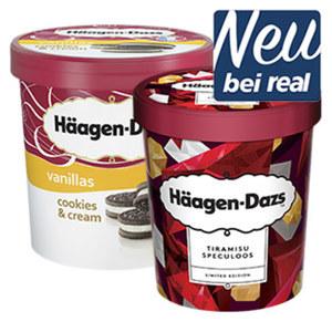 Häagen-Dazs Eis versch. Sorten, jeder 460/500-ml-Becher