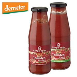Campo Verde demeter Tomaten Passata oder Polpa jede 700/680g Flasche