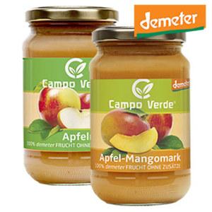 Campo Verde Demeter Bio Apfelmark oder Apfel-Mangomark jedes 360-g-Glas