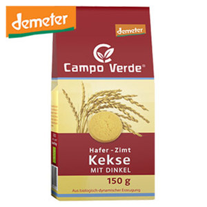 Campo Verde Demeter Hafer- Zimt Kekse mit Dinkel jede 150-g-Packung