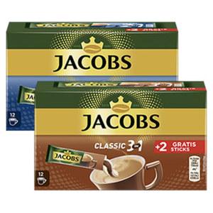 Jacobs Löslicher Kaffee 3 in 1, 2 in 1 10er + 2 Gratis Sticks, Krönung oder Espresso jede 10er = 18/168/216-g-Packung/25er = 45-g-Packung