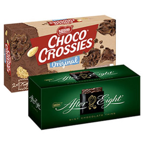 Nestle Choco Crossies 150 g, Choclait Chips 115 g versch. Sorten oder After Eight 200 g, jede Packung
