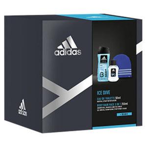 Adidas Geschenkpack EDT, Showergel und Beanie-Mütze, je Set