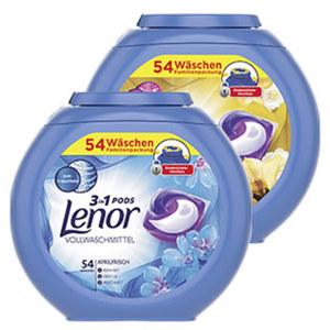 Lenor Waschmittel 3 in1 Pod's 54 Waschladungen, versch. Sorten, jede Packung