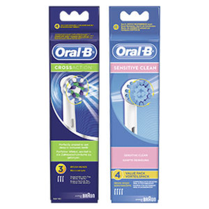 Oral-B Aufsteckbürsten versch. Sorten, jede 3/4er-Packung