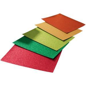 IDEENWELT Glitterkarton rot/grün/hellgrün/gold/kupfer