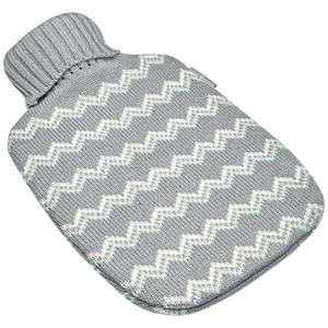 IDEENWELT Wärmflasche mit Strickbezug Zick-Zack