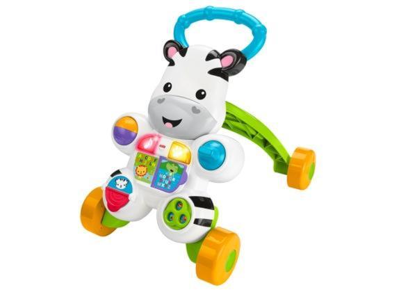 Mattel Fisher Price Lern mit mir Zebra Lauflernwagen