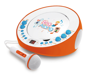 SING ALONG CD-Spieler/ Karaoke-Gerät mit Mikrofon - orange