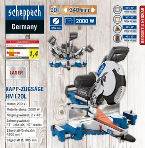 Scheppach Kapp-Zugsäge HM120L