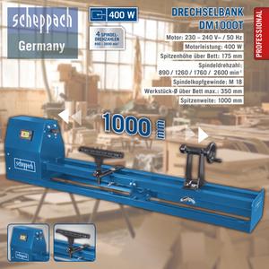 Scheppach Drechselbank DM1000T