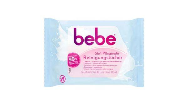 bebe® 5in1 Pflegende Reinigungstücher