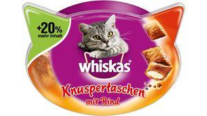 Whiskas® Katzensnack Knuspertaschen Rind  72g