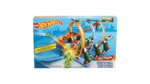 Mattel - Hot Wheels Korkenzieher-Crash Trackset