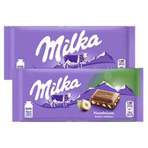 Milka Schokolade versch. Sorten, jede 87/92/100-g-Tafel