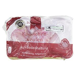 Brefood Kaninchenkeulen aus Bodenhaltung, küchenfertig, gefroren, jede 1000-g-Packung