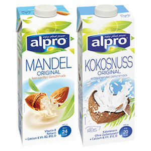 Alpro Drink Mandel oder Kokosnuss versch. Sorten, jede 1-Liter-Packung