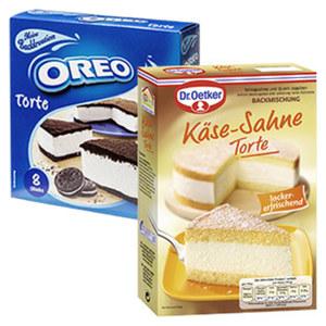 Dr. Oetker Käse-Sahne Torte oder Milka Oreo Torte und weitere Sorten, jede Packung