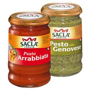 Sacla Pesto versch. Sorten, jedes 190-g-Glas