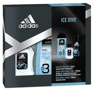 Adidas Geschenkpack EDT, Showergel, Bodyspray und Voucher, je Set