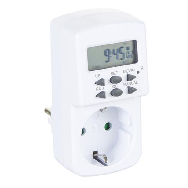 uniTec Digitale- Wochenzeitschaltuhr für Innen in Weiß