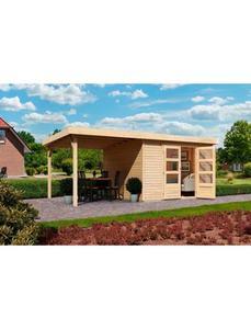 Set: Gartenhaus »Arnis 3«, BxT: 487x237 cm, inkl. Anbaudach
