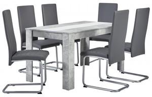 Tischgruppe Sandy Beton Optik/ grau