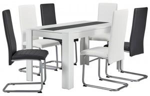 Tischgruppe Sandy weiß/schwarz