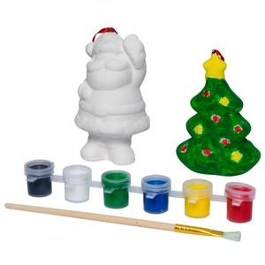Weihnachtsmalset mit verschiedenen Motiven