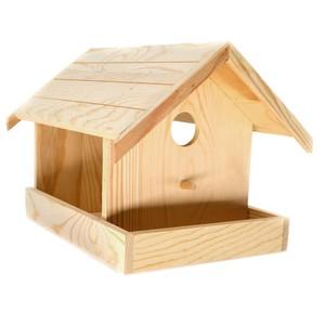 Vogelhaus mit Haken aus Holz bemalbar