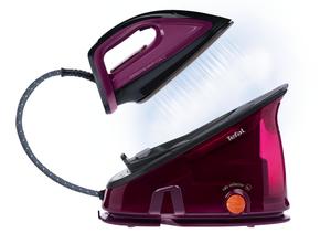 Tefal Effectis GV6820, 2200 W, 6 bar, 1,4 l, 280 g/min, 100 g/min, Duriliumsohle; Farbe: Schwarz/Violett