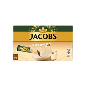 Jacobs 3in1 Sticks Typ Café Latte | löslicher Kaffee | 10 Portionen