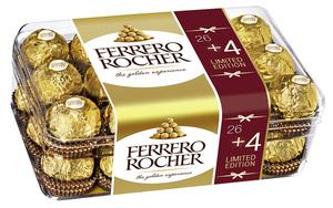 Ferrero Rocher 375 g Limited Edition (26 Stück + 4 Stück gratis)