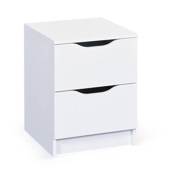 Interlink Klassische Kommode 2 Schubladen Farbe Weiss 40 X 40 X