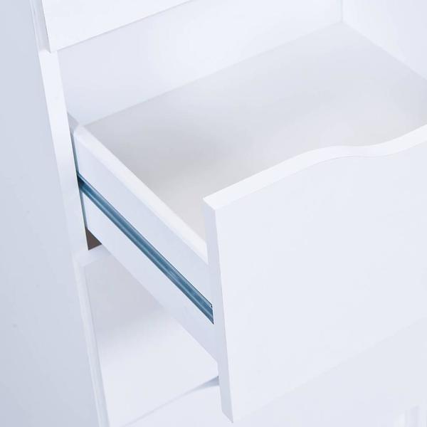 Interlink Klassische Kommode 3 Schubladen Farbe Weiß 40 X 40 X