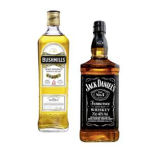 Jack Daniels Tennessee Whiskey, Honey, Fire oder Bushmills Original Irish Whisky