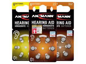 ANSMANN 6 Hörgerätebatterien