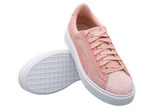 Puma Damen Sneaker Suede Platform Pebble