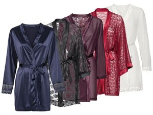 ESMARA® Lingerie Damen Spitzen-Kimono/Morgenmantel