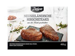 Neuseeländische Hirschsteaks