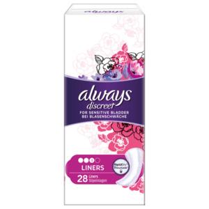 Always Discreet Inkontinenz Slipeinlagen 28 Stück