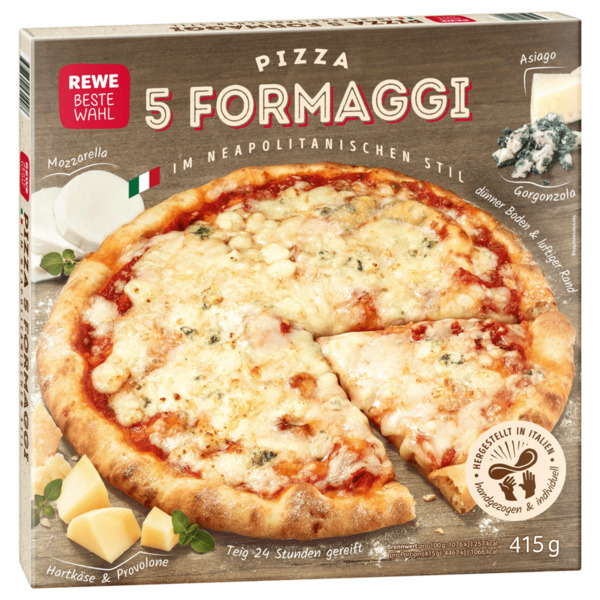 REWE Beste Wahl Pizza Napoli 5 Formaggi 415g
